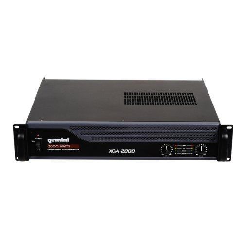 - Gemini XGA Series XGA-2000 Professional Quality PA System DJ Equipment Power Amplifier with 2000 Watt Instant Peak Power