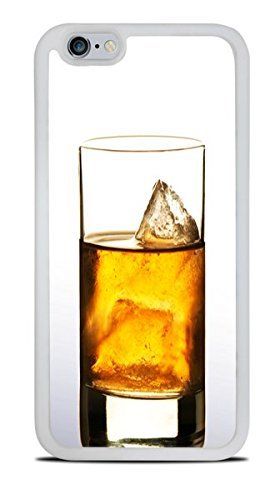 (Whiskey on the Rocks White Silicone Case for iPhone 6 (4.7))