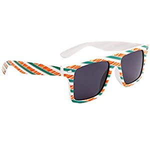 Fancies by Sojayo: Summer, Beach, Party, Fun, Hot Design Sunglasses for Women, Men and Kids - Sexy White Green Orange Shades - Cool Design for Spring Break, Vacation, College (White Denver Fancies)