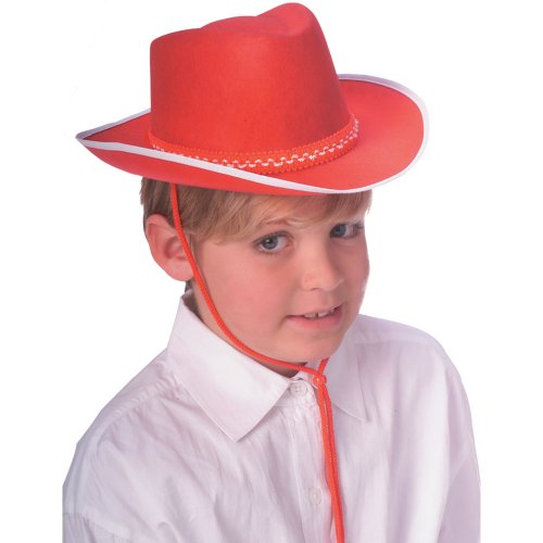 Rubie's Costume Co Dura Red Child Cowboy Hat (Michael Jackson Fedora Hat For Sale)