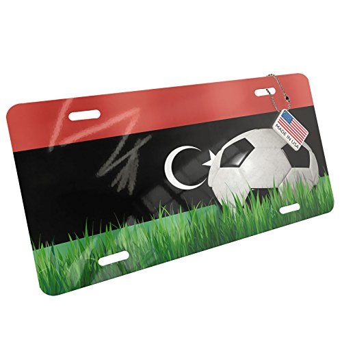 Metal License Plate Soccer Team Flag Libya - Neonblond by NEONBLOND