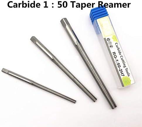 GENERICS LSB-Werkzeuge, HRC50 VHM Spannhand 1:50 Kegelreibahle 2 2,5 3 4 5 6 8 10 12 mm H7 Gerade Nut (Head Diameter : 4H7 Shank4.9 L75mm)