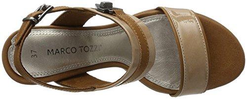 Marco Tozzi 2-2-28704-28 519, Sandalias de Tacón Mujer Beige (Candy Comb 519)