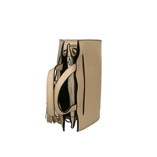 en Made mujer Italy Bolso Aren autntico Cm Barro cuero in 26x21x15 de BqRtwqZ