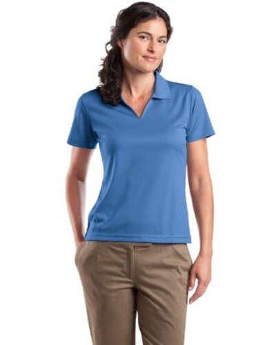 Sport Tek Women's Wick Moisture V-Neck Sport Shirt, Blueberry, X-Large