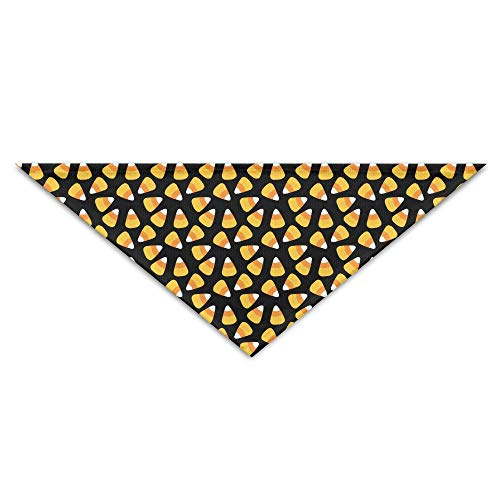 OHMYCOLOR Halloween Candy Corn Pattern Dog Bandanas Scarves Triangle Bibs Scarfs Funny Basic Dogs Neckerchief Cat Collars Pet Costume Accessory Kerchief for Large&Medium&Small Puppy -