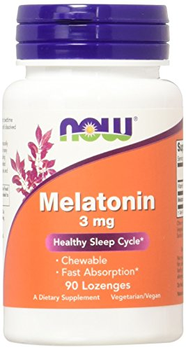 NOW Melatonin 3mg Lozenges Pack
