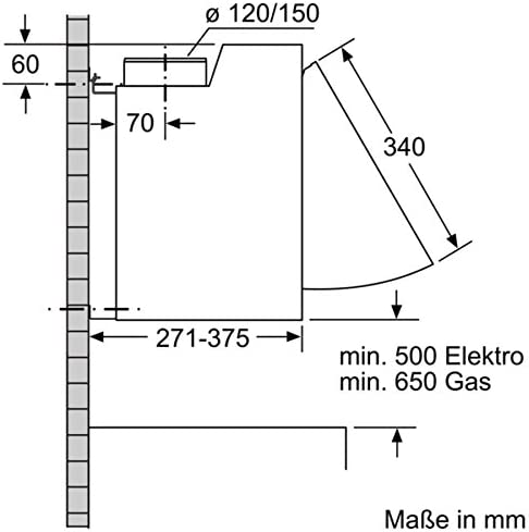 Siemens iQ100 LE66MAC00 - Campana (620 m³/h, B, A, C, 70 dB, 49 dB): Amazon.es: Hogar