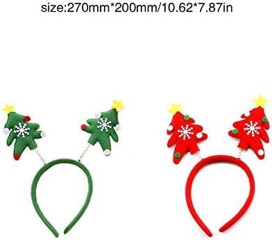 ZengBuks Adornos navide/ños Diademas navide/ñas ordinarias Diademas con luz navide/ña Diademas de Fiesta navide/ña Adornos