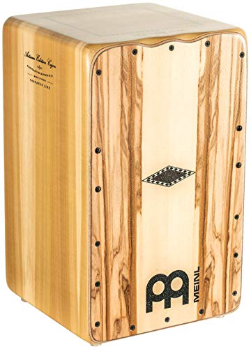 Meinl Artisan String Cajon with Indian Heartwood Frontplate / Solid Tulip Poplar Body - MADE IN SPAIN - Fandango Line, 2-YEAR WARRANTY (AEFLIH)