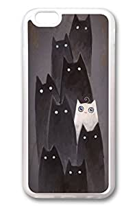 iPhone 6 Cases, Personalized Protective Case for New iPhone 6 Soft TPU Clear Edge I Am White Cat