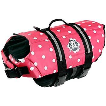 5eeb1cdfe593 Amazon.com : Designer Dog Life Jacket in Pink Polka Dot Size: Medium ...