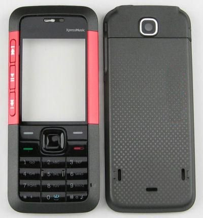 Replacement Faceplate Body Panel Housing For Nokia 5310 Black Xpress