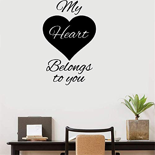 Peruil Lettering Words Wall Mural DIY Removable Sticker Decoration My Heart Belongs to You Master Room Nursery Kids Room