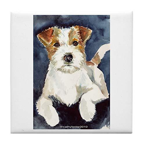 CafePress Jack Russell Terrier 2 Tile Coaster, Drink Coaster, Small Trivet