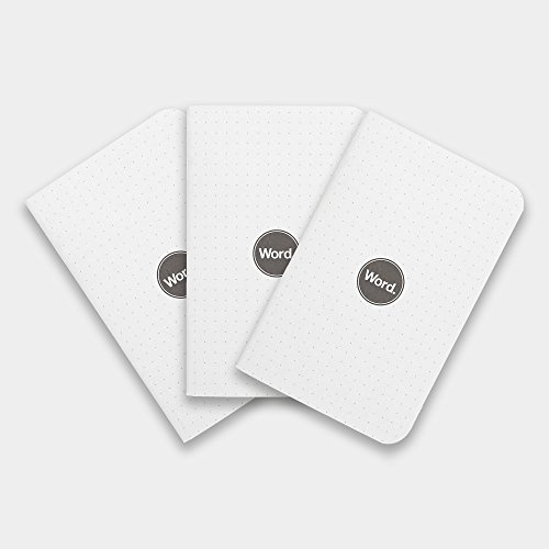 Dot Grid Pocket Notebooks / Journals. 3-Pack. Dotted Pages. Made in USA. Word. Notebooks