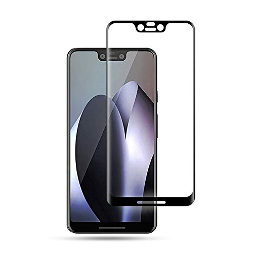 Google Pixel 3XL Tempered Glass Screen Protector, 2pcs Case Friendly HD Clear Bubble Free 9H Hardness Curved Tempered Glass Film for Pixel 3 XL, [Anti Scratch] - Back Glass Curved