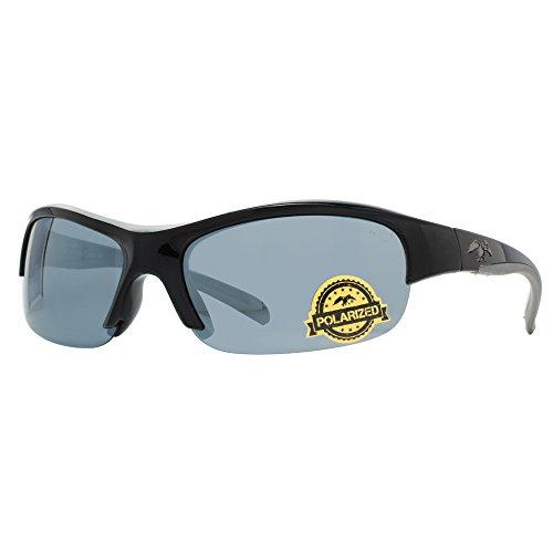 duck commander Men's D852 BLK Mirrored Polarized Sunglasses, Shiny - Duck Sunglasses Commander