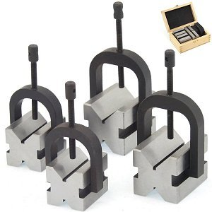 Anytime Tools 8 pc V-BLOCK & CLAMP DOUBLE SIDED 90° MACHINIST TOOL -