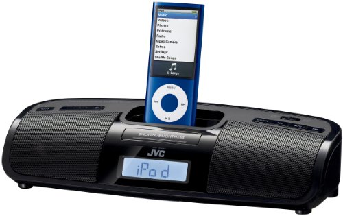 JVC Home RAP1 Portable iPod Dock/Alarm Clock with FM Tuner