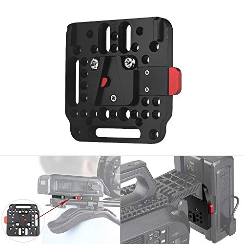 WEIHE V-Lock Assembly Kit Female V-Dock Male V-Lock Quick Release Plate for V-Mount Battery