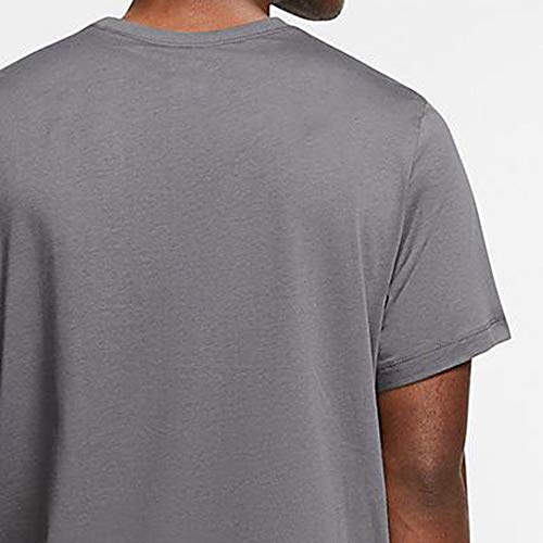Nike Men's Sportswear Club T-Shirt AR4997-021 Size L Dark Grey/White/Black 4