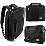Multifunction 15.6 Inch Laptop Shoulder Messenger Bag, Backpack, Briefcase Fit HP, Lenovo, Dell, Black