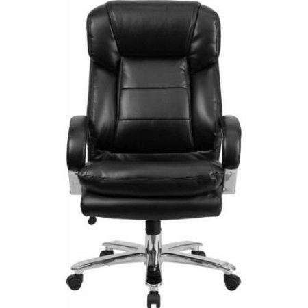 Most Comfortable Top Rated Big Tall Black Simulated Leather Executive Presidential Super Duty Office Chair- 500 LB Capacity Over-Sized For Large Body Frames- Extremely Durable Comfy Long Life price