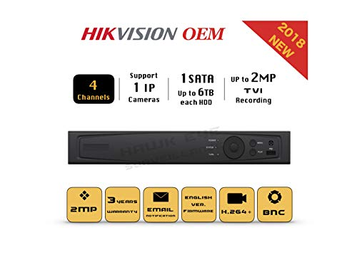 - 4CH HD TVI 1080P DVR - Surveillance Digital Video Recorder 4CH HD-TVI/CVI/AHD H264 Full-HD HDMI/VGA/BNC Video Output for Home & Business Analog& IP Camera Support Mobile App 3year Warranty