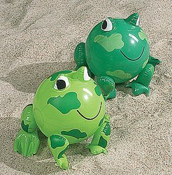 12 Inflatable Frog Beach Balls - Ball Frog Beach