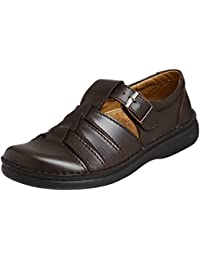 Footprints Madeira Leather Sandals licensed by Birkenstock (37 EU/US Women 6, Oiled Coffee)