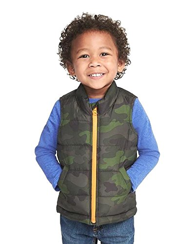 Green Camo Frost Free Vest for 2T Toddler (Old Navy Green Camo)