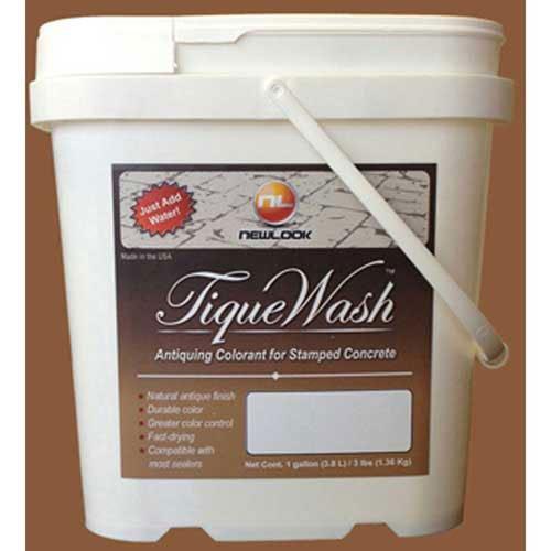TiqueWash Stamped Concrete Antiquing Colorant Terra Cotta, 3 Lb. Tub