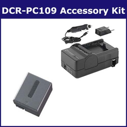 Sony DCR-PC109 Camcorder Accessory Kit includes: SDNPFF70 Battery, SDM-102 Charger ()