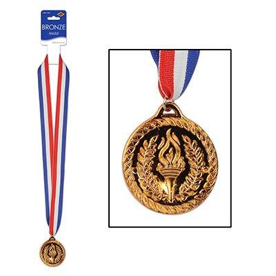Achievement Torch Medal - Bronze with Neck Ribbon Pkg/12
