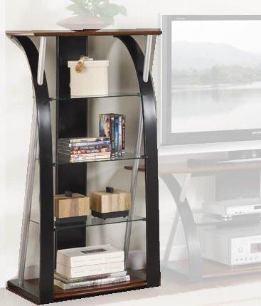 TV Component Shelf in Black Walnut Finish by Poundex