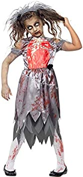 DISBACANAL Disfraz Zombie Novia para niña - -, 12-14 años ...