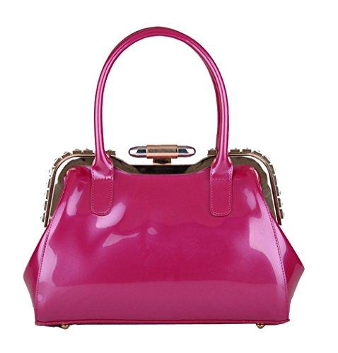Cena Pink1 Tote Modo Sacchetto Di Brevetto Zgjq Dell'europa Signore Bag Delle E7TqWwxvS
