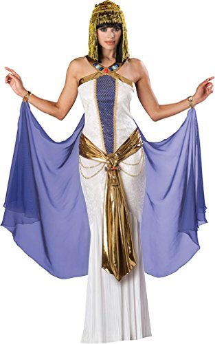 InCharacter Costumes, LLC Jewel Of The Nile Full Length Panne Gown, White/Purple, Small (Jewel Of The Nile Costume)