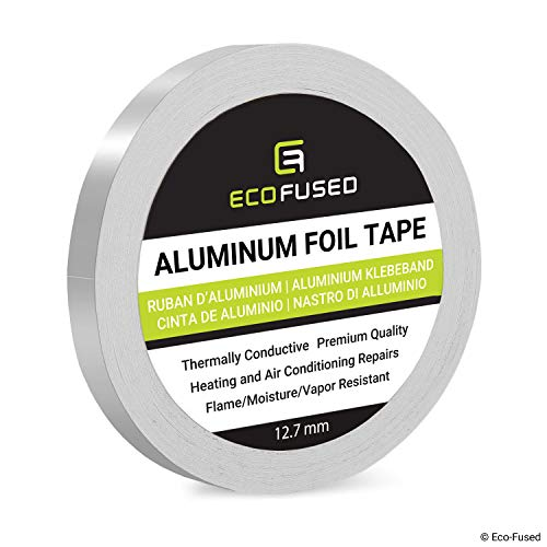 (Premium Adhesive Aluminum Foil Tape - for Heating and Air Conditioning Repairs - Thermally Conductive - Flame/Moisture/Vapor Resistant - Heat and Light Reflective - Arts and Crafts, Home)