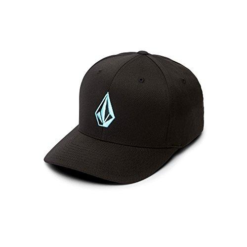 Volcom Men's Full Stone Heather Flexfit Stretch Twill Hat, Blue Bird, Small/Medium -