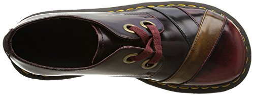 Dr. Martens Womens Sylwia 2-eye Oxford Cherry Red / Tan / Navy