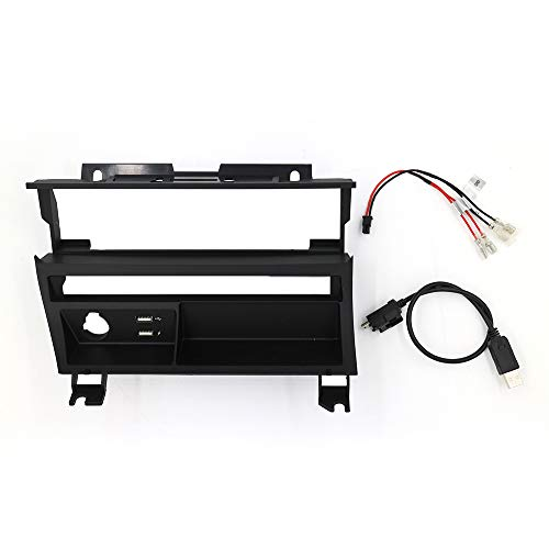 Dynavin E46 Double DIN Stereo Dash Kit Single Row Button Style with 2 USBs for BMW 1998-2006 3-Series