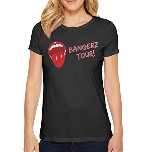 JESIK Women's Black Miley-Cyrus-Bangerz-Tour- T Shirt