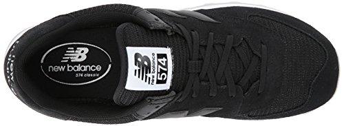 New White 574v1 Men's Mesh Synthetic Balance Sneaker Black 664q7