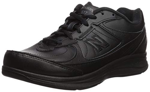 New Balance Women's WW577 Walking Shoe, Black, 7.5 2E US