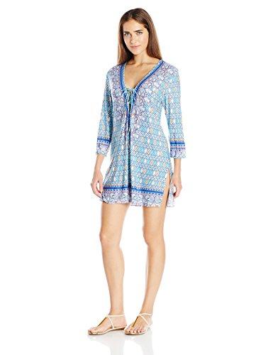 Profile Blush by Gottex Women's India Tunic Cover up, Multi/Blue, Medium