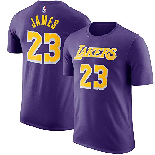 Outerstuff NBA Youth Performance Game Time Team Color Player Name and Number Jersey T-Shirt (X-Large 18/20, Lebron James Los Angeles Lakers Purple) (La Shirt Jersey Lakers)