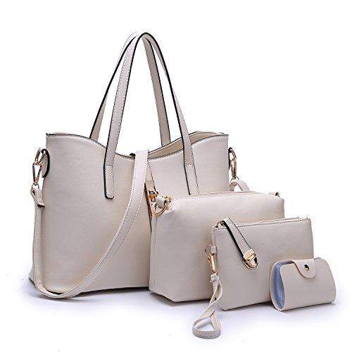 Women Hot Handbag PU Leather bags(white) - 1