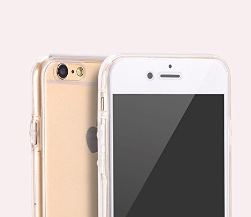 könig-shop Funda de móvil Brillantina schutz-cover carcasa full-case ESTUCHE - Transparente, Apple iPhone 8 Plus (5.5 Zoll) Transparente